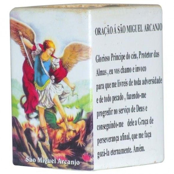 ARCANJO MIGUEL CANDELABRO 7,5CM