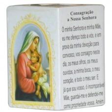CONSAGRACAO A N.SENHORA P/VELA 7,5CM