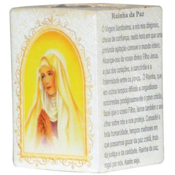 RAINHA DA PAZ P/VELA 7,5CM