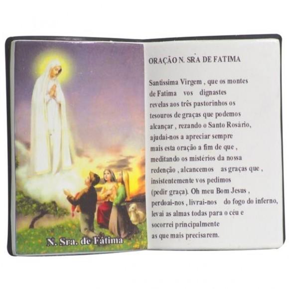 N.SRA DE FATIMA LIVRO P/CANETA 14X11CM