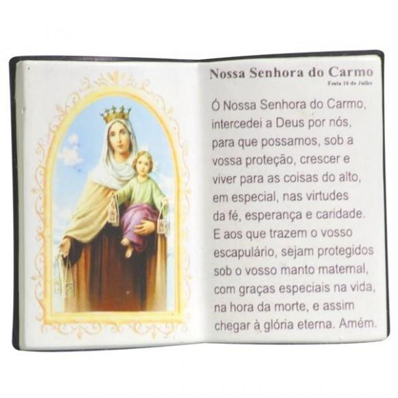 N.SRA DO CARMO LIVRO P/CANETA 14X11CM