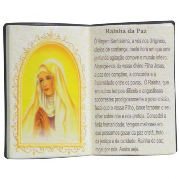 RAINHA DA PAZ LIVRO 10X08CM