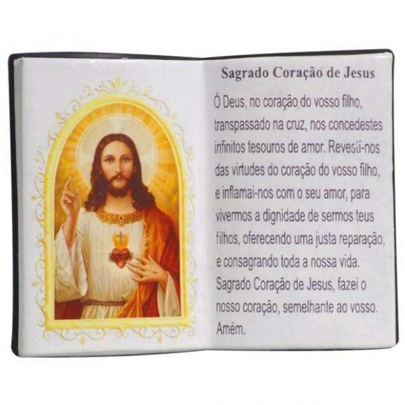 SAG.CORACAO JESUS LIVRO 10X08CM