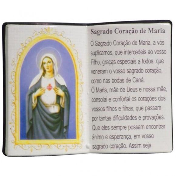 SAG.CORACAO MARIA LIVRO P/CANETA 14X11CM