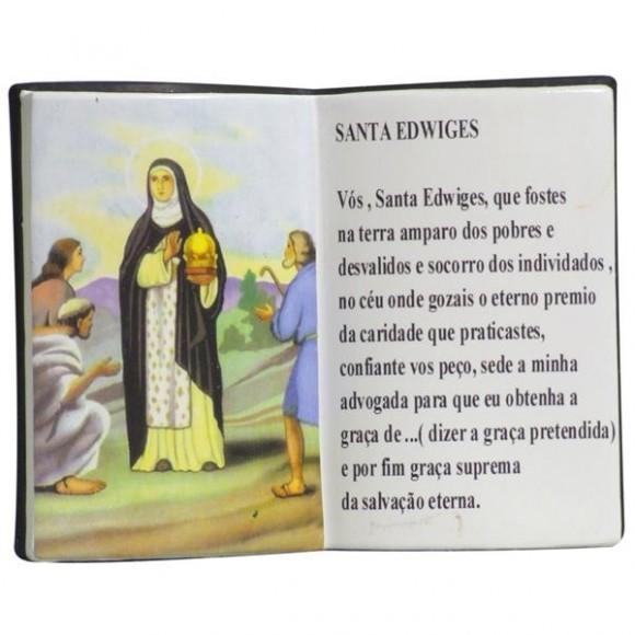 SANTA EDWIGES LIVRO P/CANETA 14X11CM