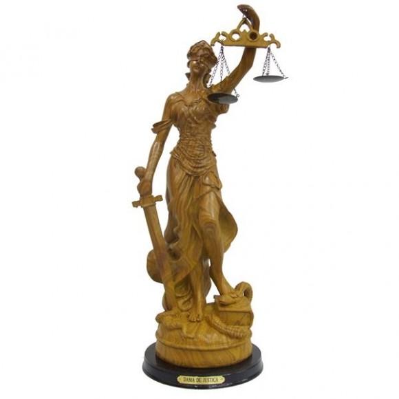 DAMA DA JUSTICA 16CM MADEIRA