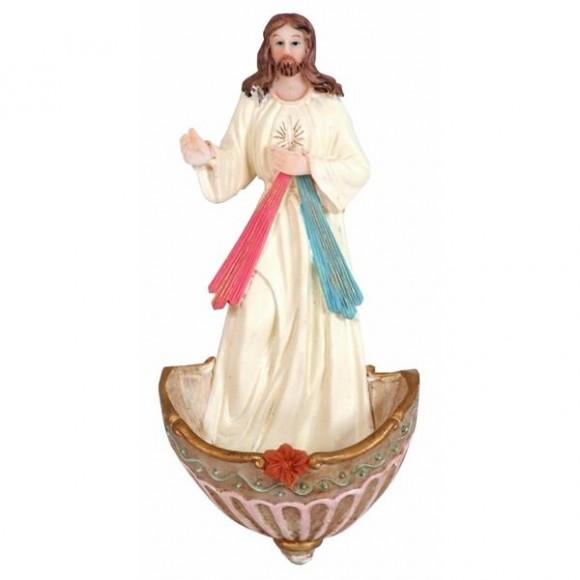 JESUS MISERICORDIOSO AGUA BENTA 17CM