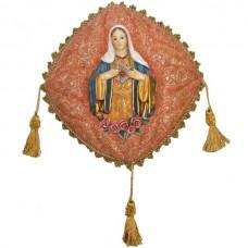 SAG.CORACAO MARIA NA ALMOFADA 27CM