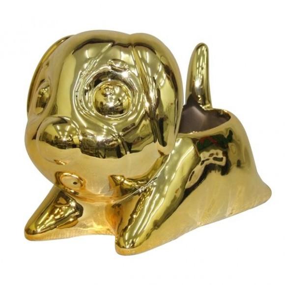 VASO CACHORRO GOLD 20CM