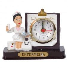 ENFERMEIRA RELOGIO 8 CM