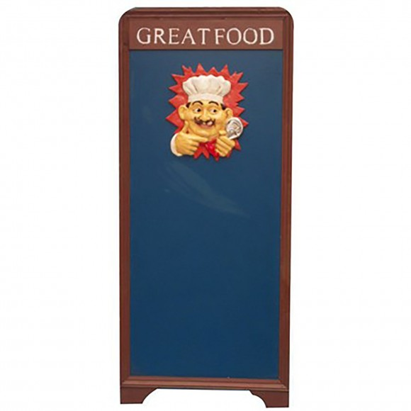 PLACA GREET FOOD(FORMATO A) 1,30CM
