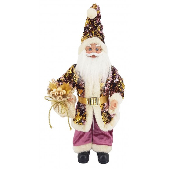 PAPAI NOEL 70CM PURPLE MUSICAL